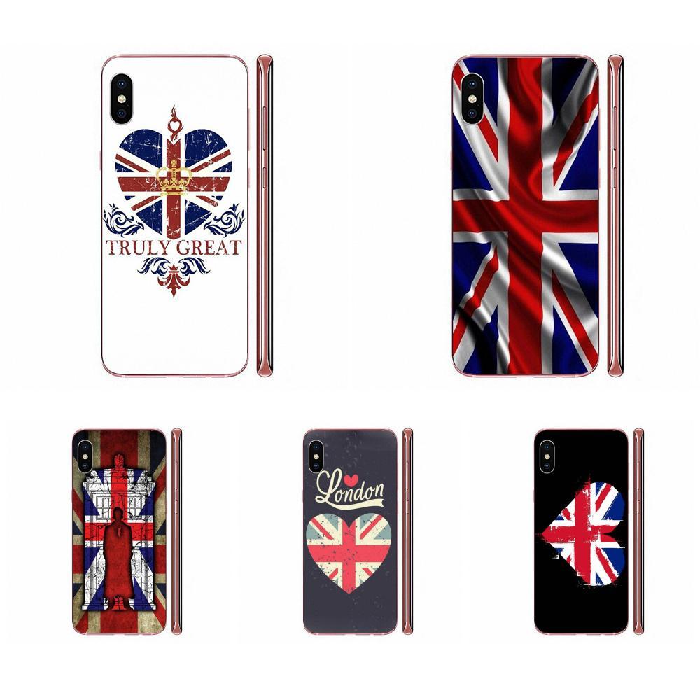 Celular de TPU funda de teléfono para Xiaomi Redmi mi10 lite Pro Nota 9 PRO Max 9s Mi9 K30 K20 Pro 5G Gran Bretaña Gb bandera británica Inglaterra