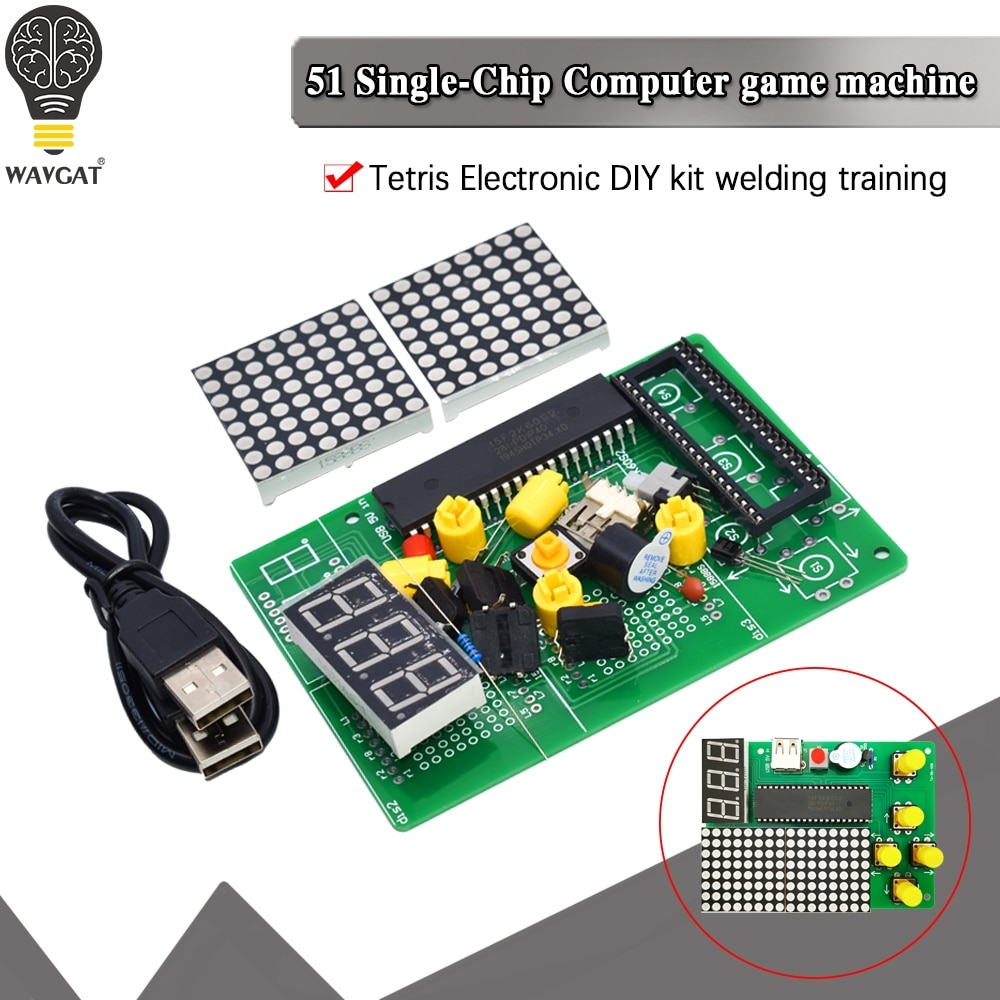 DIY Game Board Kit 51 SCM Chip Retro Electronic Soldering Practice Console Maker Small Production st