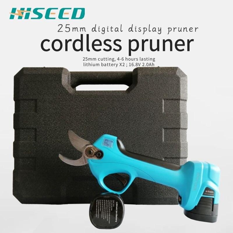 HISEED удобные электрические секаторы литиевая батарея беспроводные ножницы для резки секатор