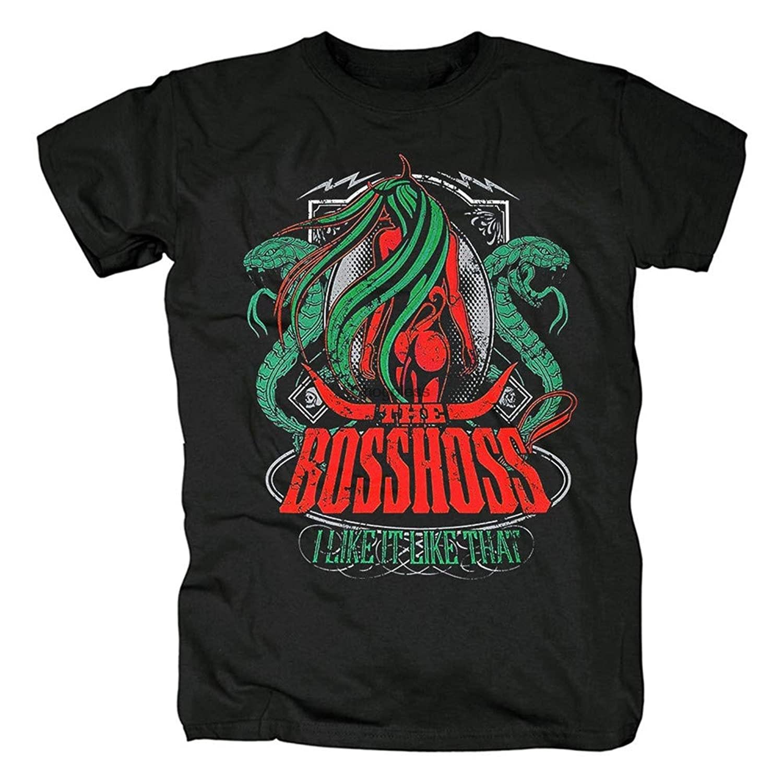Camiseta de los hombres camisa de manga corta de la Bosshoss Rock...