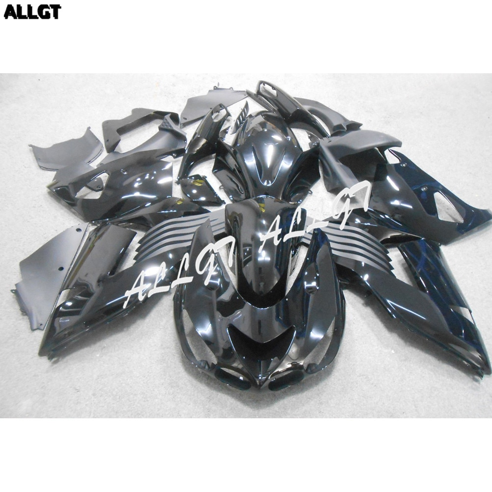 Kit de carénage noir brillant peint carrosserie ABS pour KAWASAKI NINJA ZX14R 2006 2007 2008 2009 2010 2011