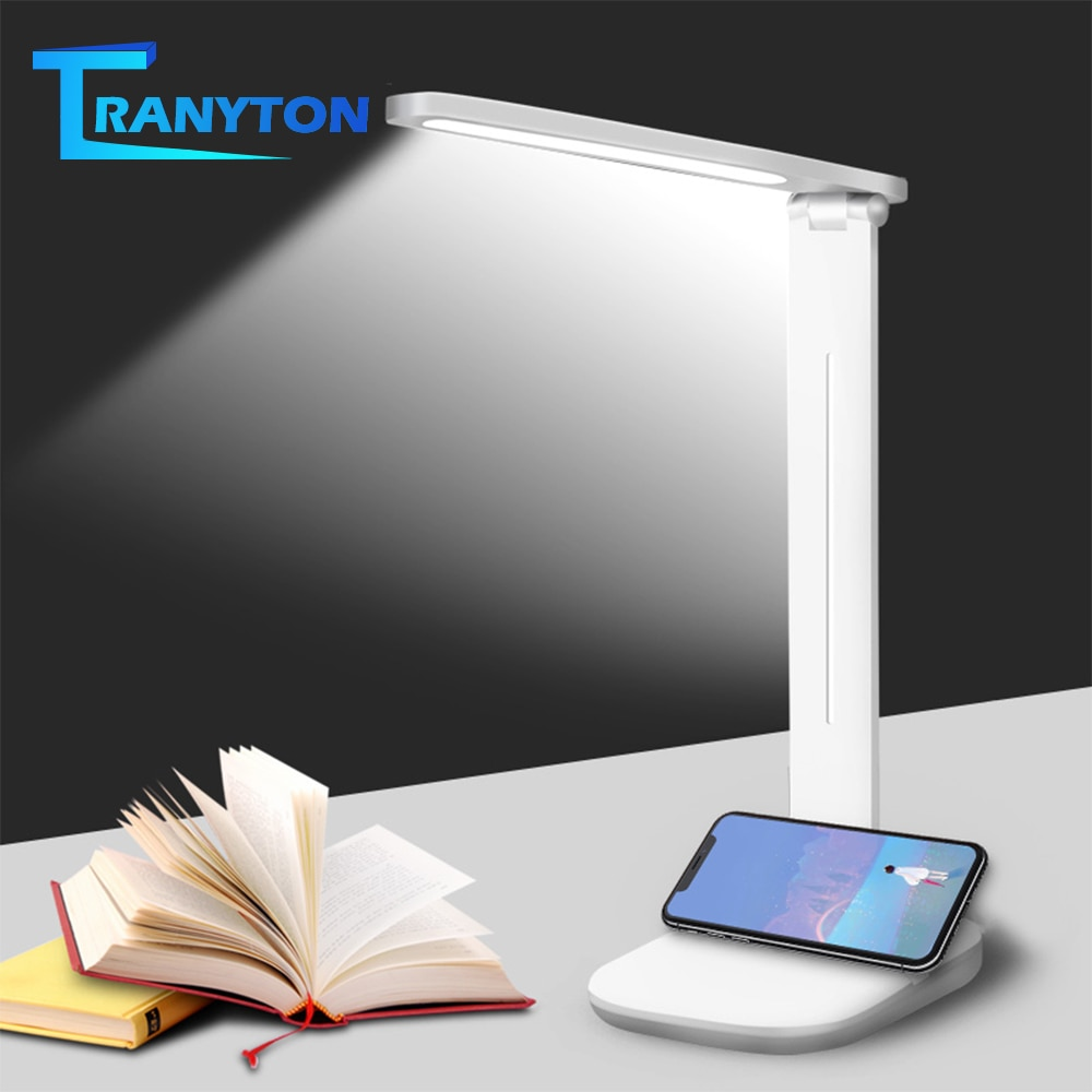 LED Desk Lamp Foldable Touch Dimming Flicker Free Eye Protection Reading Lamp USB Charging Study Work Light original royole smart memory desk lamp touch sensor dimming table eye protection folding for learning working charging novelty