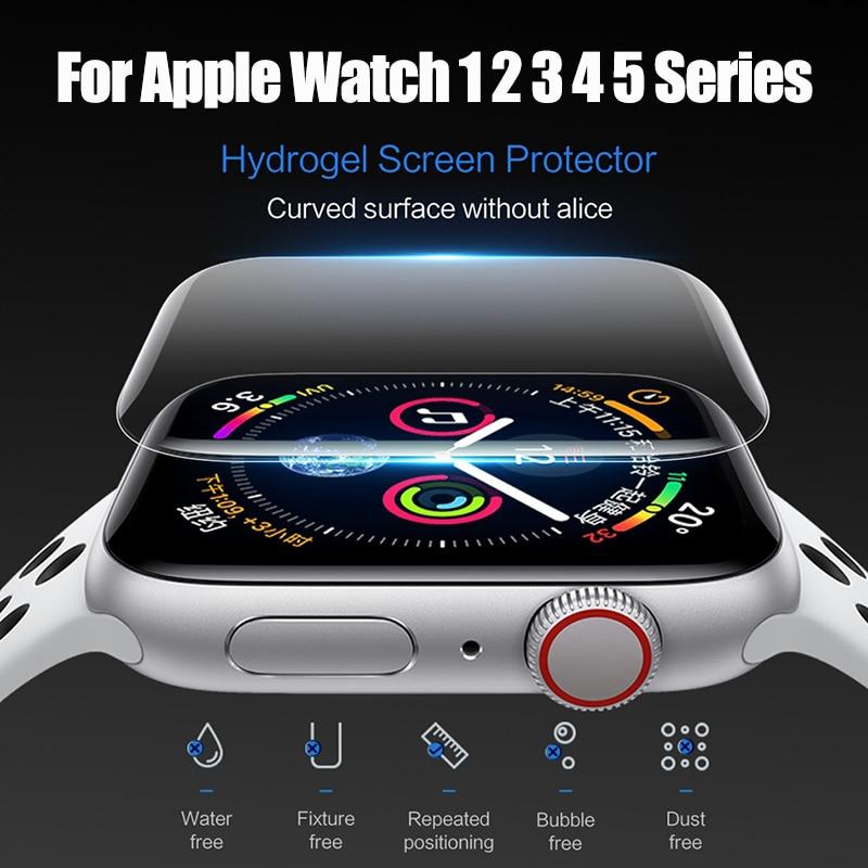 Гидрогелевая пленка 10D для Apple Watch 1 2 3 4 5 Series, пленка с полным покрытием для Iwatch 38 мм 40 мм 42 мм 44 мм, устойчивая к царапинам