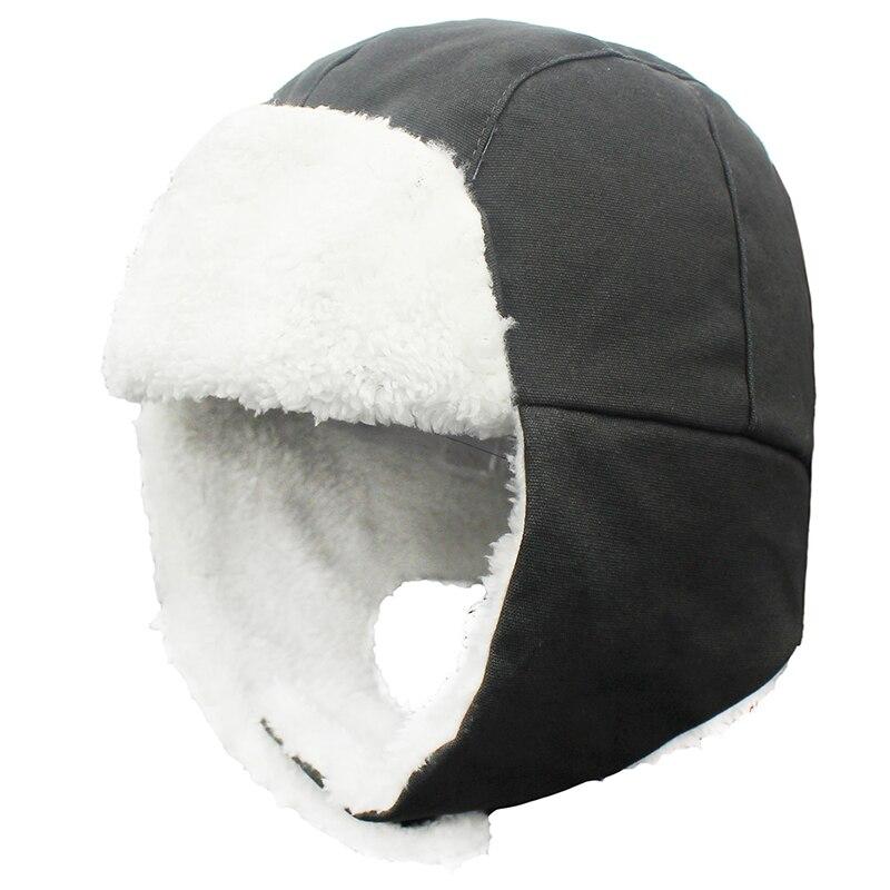 Outfly-قبعة شتوية من الفرو للأطفال ، قبعة شتوية دافئة ، مقاومة للثلج ، حماية للأذن