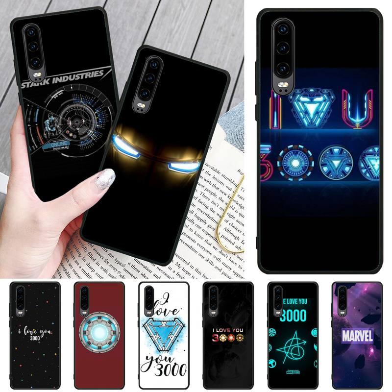 Marvel Iron Man I Love You Customer высококачественный чехол для телефона Huawei P8 lite 2017 P9 P10 20Pro Lite Pro P30lite P Smart 2019