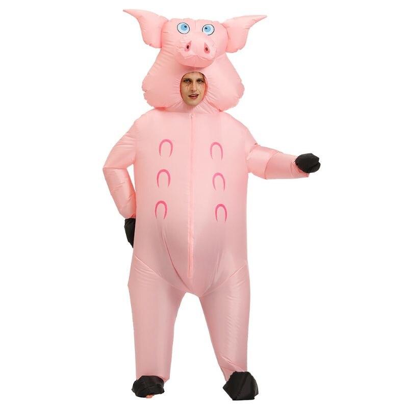 Cerdo inflable traje de sofisticado disfraz de Halloween vestido adulto divertido volar traje E65D