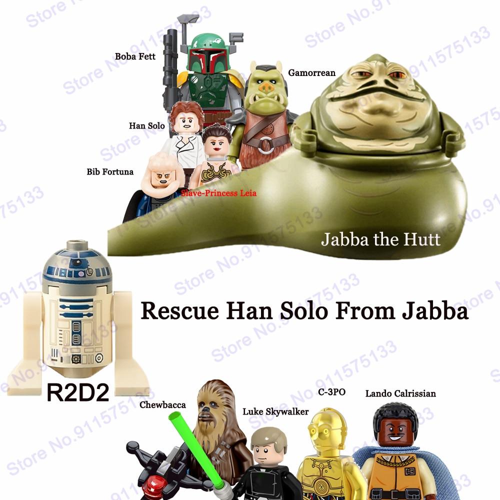 Bloques de construcción de figuras de acción de Star Wars, Han Solo...