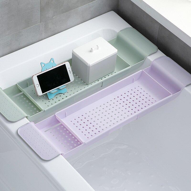 Casa filtro de água cesta organizador retrátil banheira rack armazenamento prateleira banheira ferramentas do banheiro pia cozinha dreno holde