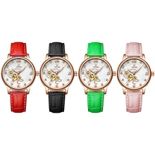 Classic Crystal Love Tevise Men Mechanical Watch Automatic Mechanical Watches Women Leather Wrist Wa