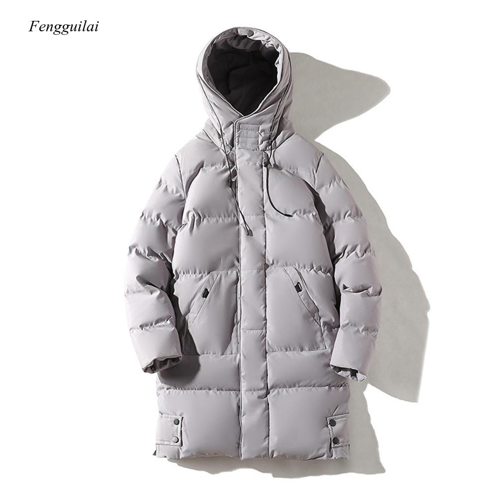 Мужская парка, зимняя длинная парка с хлопковой подкладкой, уличное пальто-пуховик для мужчин, толстое и теплое модное пальто