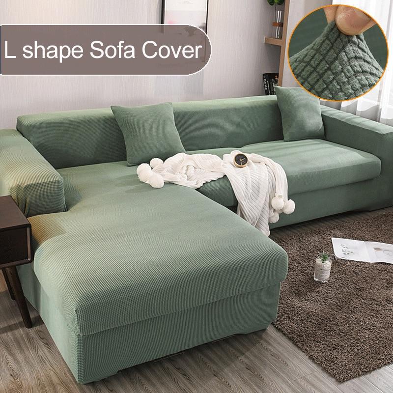 L شكل أريكة غطاء بلون غرفة المعيشة القطبية الصوف الأناناس الشبكة مطاطا القماش الأخضر الأصفر الأسود دنة الأريكة غطاء