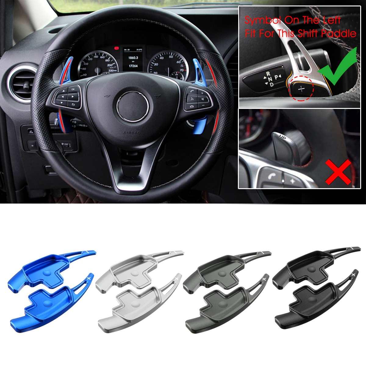Par de extensión de paleta de cambio de volante de coche para Benz A B C E clase CLA CLS E GLC GLE S SL SLC