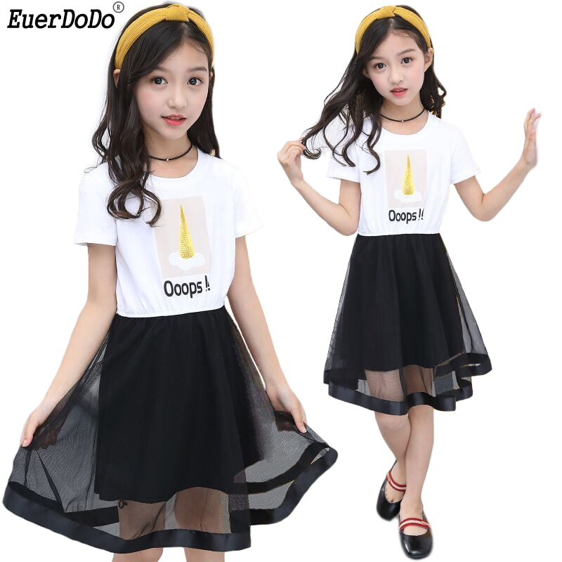 Children Girls Summer Dresses Lace Princess Dress For Girls Costume Kids Girl Party Dress 3 4 5 6 7 8 9 10 11 12Y