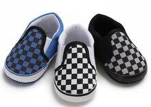 SandQ-chaussures en toile pour bébés filles   Chaussures pour nourrissons, pre-marcheurs berceau, antidérapantes, chaussures de bébé garçon en tissu vérifié, semelle souple et confortables