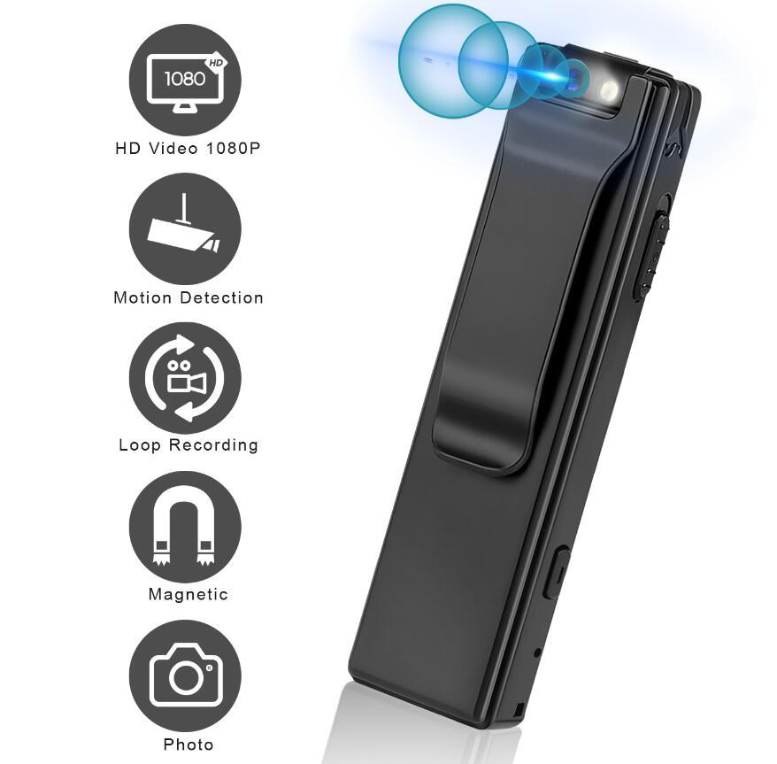 كاميرا رقمية صغيرة HD مصباح يدوي مايكرو كام المغناطيسي كاميرا يمكن حملها بالجسم كشف الحركة لقطة حلقة تسجيل كاميرا الفيديو