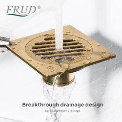 Frud inserção de bronze piso resíduos grades drenos chuveiro do banheiro dreno drenos bronze fltro ducha dreno cabelo invisível anti odor