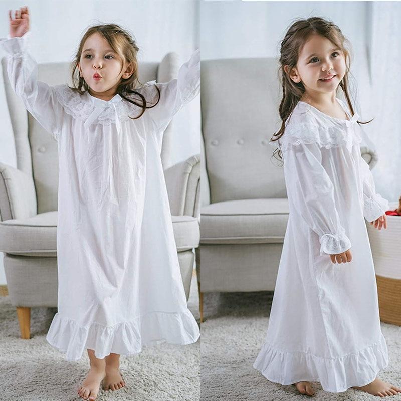 Baby Girl Clothes Princess Nightgown Long Sleeve Sleep Shirts Nightshirts Pajamas Christmas Dress Sleepwear kids for 3-12 Years