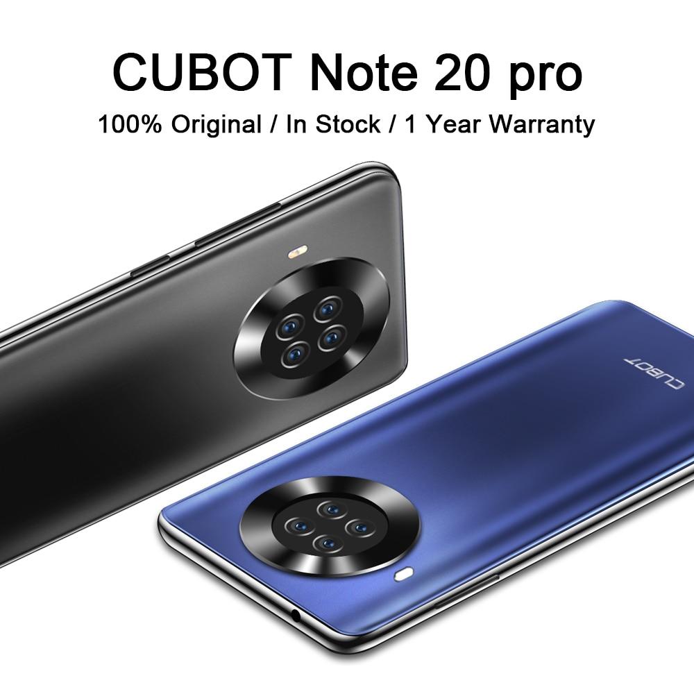 8 + 128 ГБ CUBOT Note 20 Pro Smart мобильный телефон 6,5 ″ Helio P60 12MP сзади Quad Камера 4200 мАч смартфонов NFC Android 10 Dual SIM