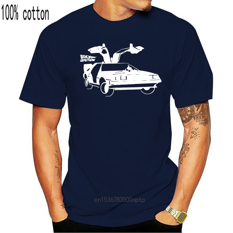 Camiseta para carro de delorean de volta para o futuro novo t camisas engraçadas topos novo unissex