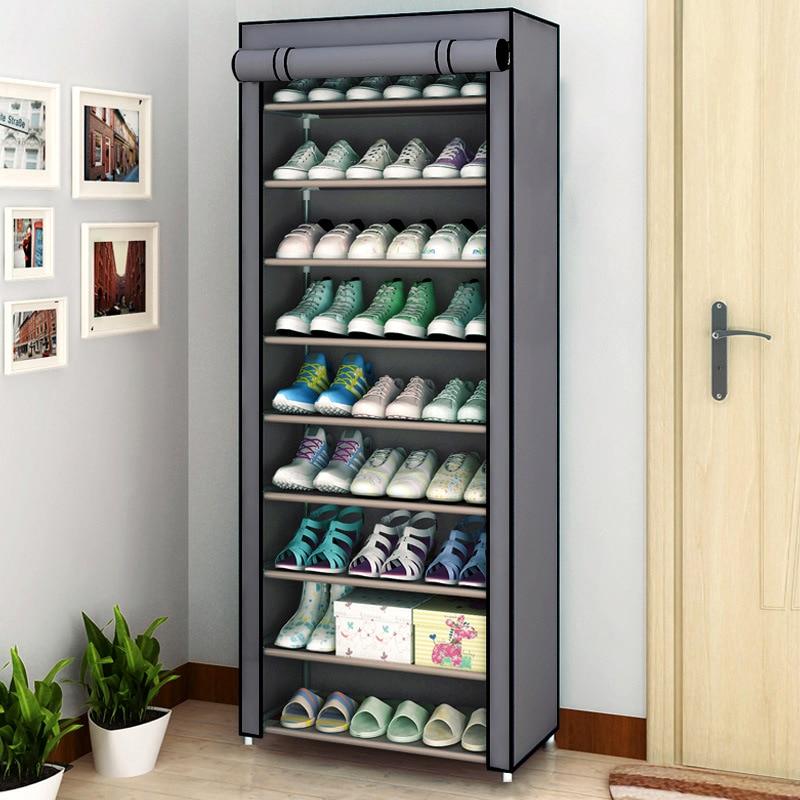 Multilayer Shoe Cabinet Dustproof Shoes Storage Closet Hallway Space-saving Shoerack Organizer Holder Home Furniture Shoe Rack