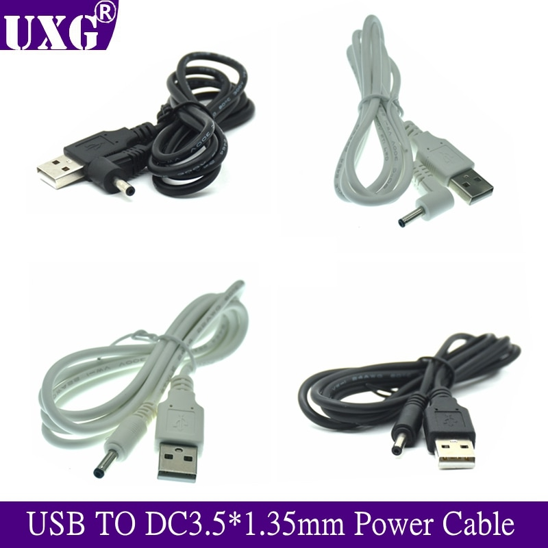 Tipo USB macho A DC macho adaptador Jack 90 grados macho de...