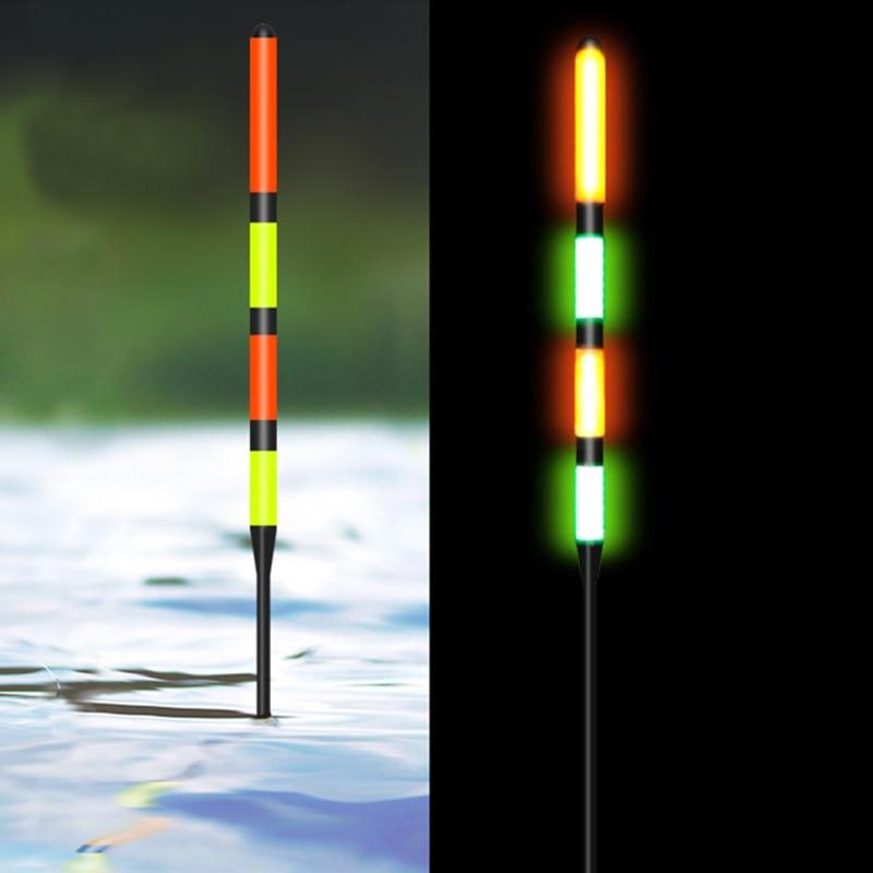 1 pçs novo flutuador de pesca super alto brilho led luz bóia elétrica noite pesca essencial 5g/7g/8g