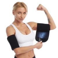 women sports arm slimmer wrap compression sleeve yoga fitness slimming sweaty armband protector body exercise arm wraps