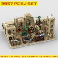 buildmoc plan series architecture moc 32630 mos eisley cantina house desert village model bricks building blocks kids for toys