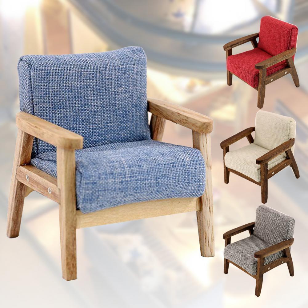 1/12 кукольный домик, одно кресло, мебель для дома, гостиной, игрушка, подарок, мебель для гостиной, красивая деревянная мини-модель ручной раб...
