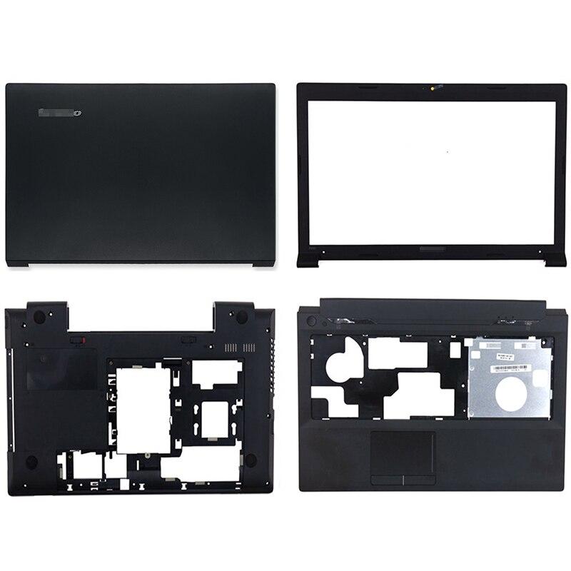 جديد لينوفو B590 LB59A B595 المحمول LCD الغطاء الخلفي الجبهة الحافة Palmrest أسفل الحال 90201909 60.4XB04.012 60.4XB04.001 الأسود