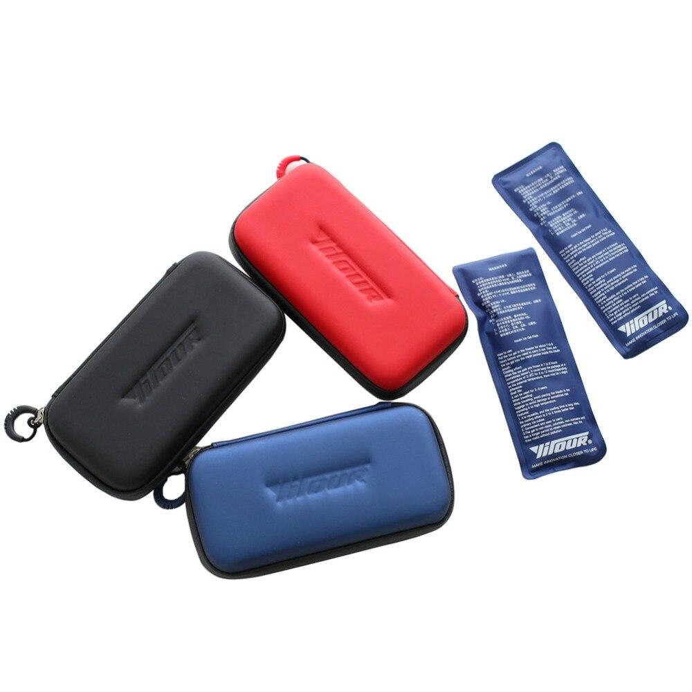 Sac réfrigéré portatif dinsuline sacs de glace sacs isolés par insuline médicale sac isotherme de drogue 1 boîte avec 2 paquets de glace environnementaux