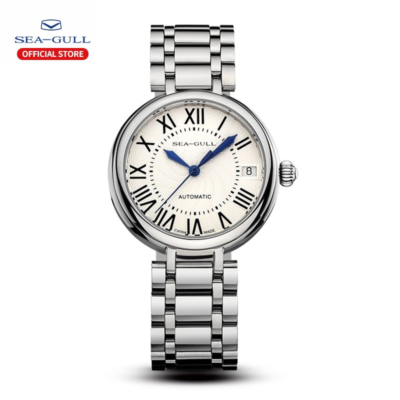 2021 Seagull Ladies Watch Automatic Mechanical Watch Ultra-Thin Casual Simple Roman Holiday Sapphire Women Watch 816.417L