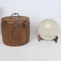Mini Wooden Barrel Canister Storage Box For Tea Leaf Flour Coffee Bean PAK55