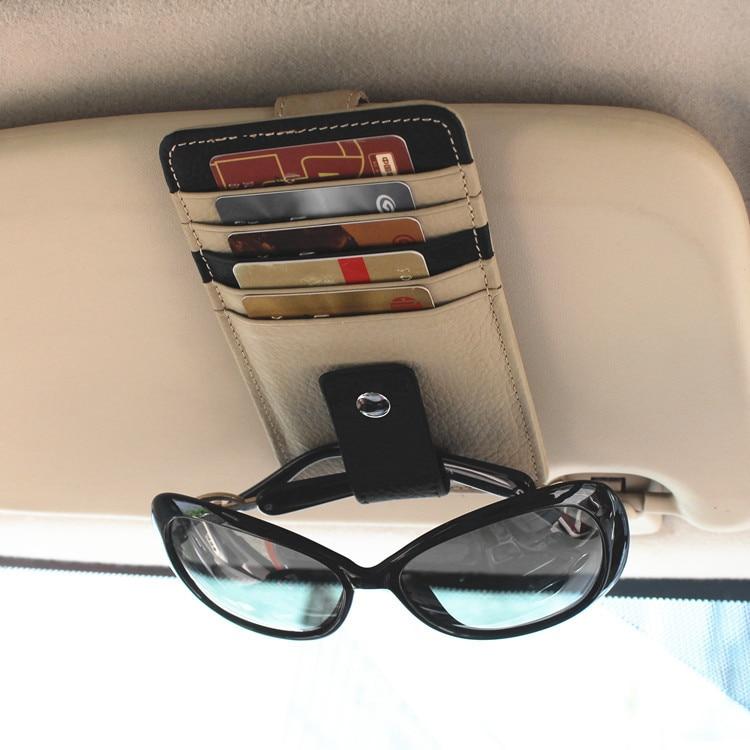Универсальный Автомобильный ключ чехол солнцезащитный козырек коробка для хранения из искусственной кожи чехол s держатель для карт стекл...