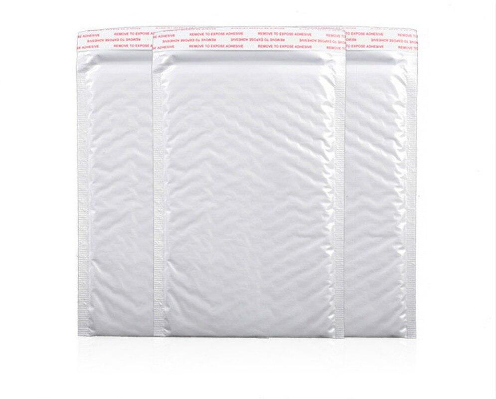 50 unids/lote 18*23cm bolsa de plástico de espuma blanca para sobres, sobres de envío acolchados con bolsa de correo de burbujas, almacenamiento de envoltura de regalo
