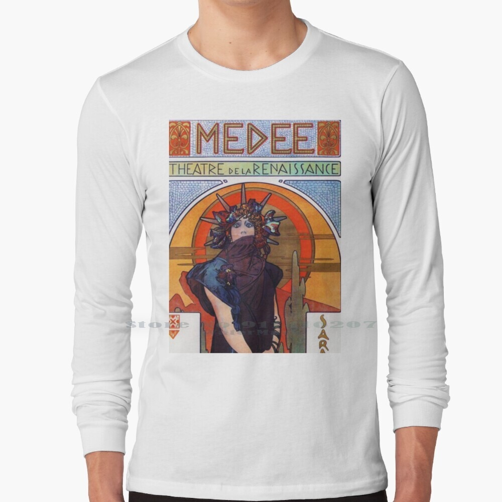 Medea - Alphonse Mucha - 1898 T Shirt 100% Pure Cotton Medea Alphonse Mucha Alphonse Mucha Art Nouveau Nouveau Sarah Bernhardt P