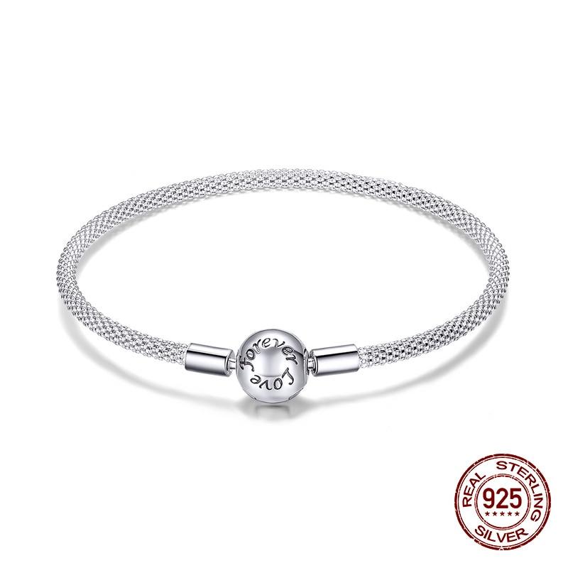 fit original Pandora beads pendant making woman authentic 100% 925 sterling silver charm bracelet Snake bracelet jewelry