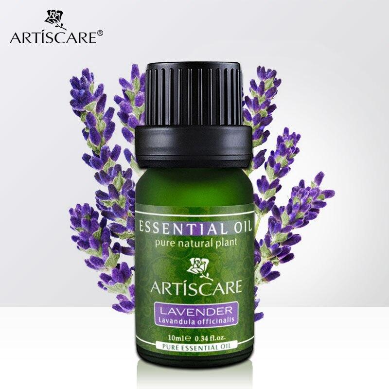 Aceite esencial puro de lavanda Natural ARTISCARE 100% de 10ml para el cuidado de la piel tratamiento de acné curación de cicatrices Black Head Face Care Aid Sleep