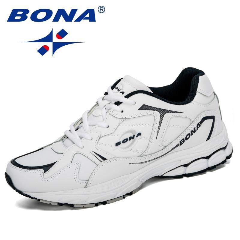 Bona 2020 novos designers de vaca dividir sapatos esportivos homens jogging calçado ao ar livre homem na moda tênis tênis homem confortável