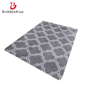 Bubble Kiss Simple Style Plush Carpets For Living Room Gray Shaggy Soft Comfort Home Bedroom Rug Decor Customize Large Floor Mat