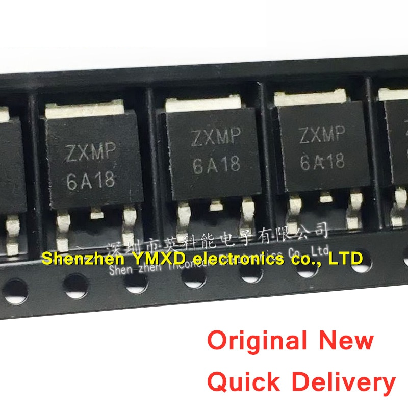 10 Stks/partij Nieuwe ZXMP6A18KTC ZXMP6A1 To-252 Mos Veld Effect Transistor P Kanaal-60V -10.4A