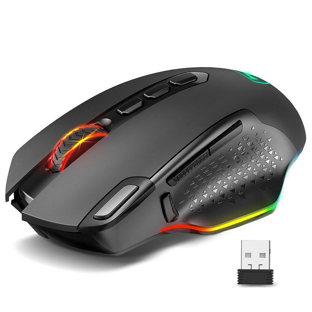 Фото - Мышь игровая беспроводная, 10000 DPI, 10 программируемых кнопок мышь игровая redragon invader rgb 8 кнопок 10000 dpi 78332