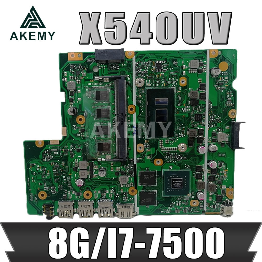X540UB اللوحة الأم للكمبيوتر المحمول ASUS X540UB X540UV X540UBR اللوحة الرئيسية الأصلية 8 جيجابايت-رام I7-7500U (V2G) 90NB0HE0-R00040