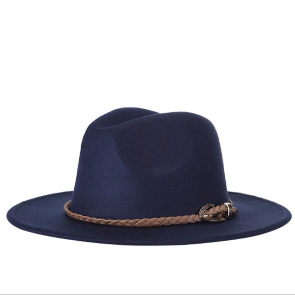 Brand Winter Autumn Imitation Woolen Women Men Ladies Fedoras Top Jazz Hat European American Round Caps Bowler Hats