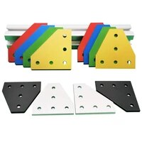 4pcs 5 holes 1515 2020 series 90 degree joint board plate corner angle bracket connection joint strip for 15 20 aluminum profile