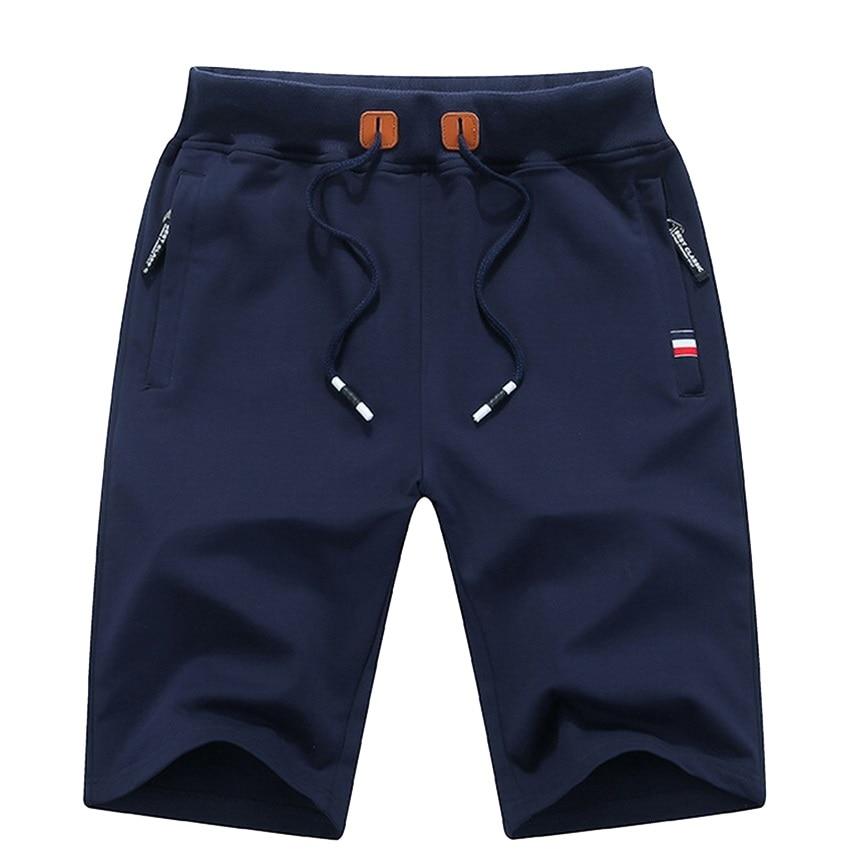 Men's Summer Breeches Shorts 2021 Cotton Casual Bermudas Black White Boardshorts Homme Classic Brand