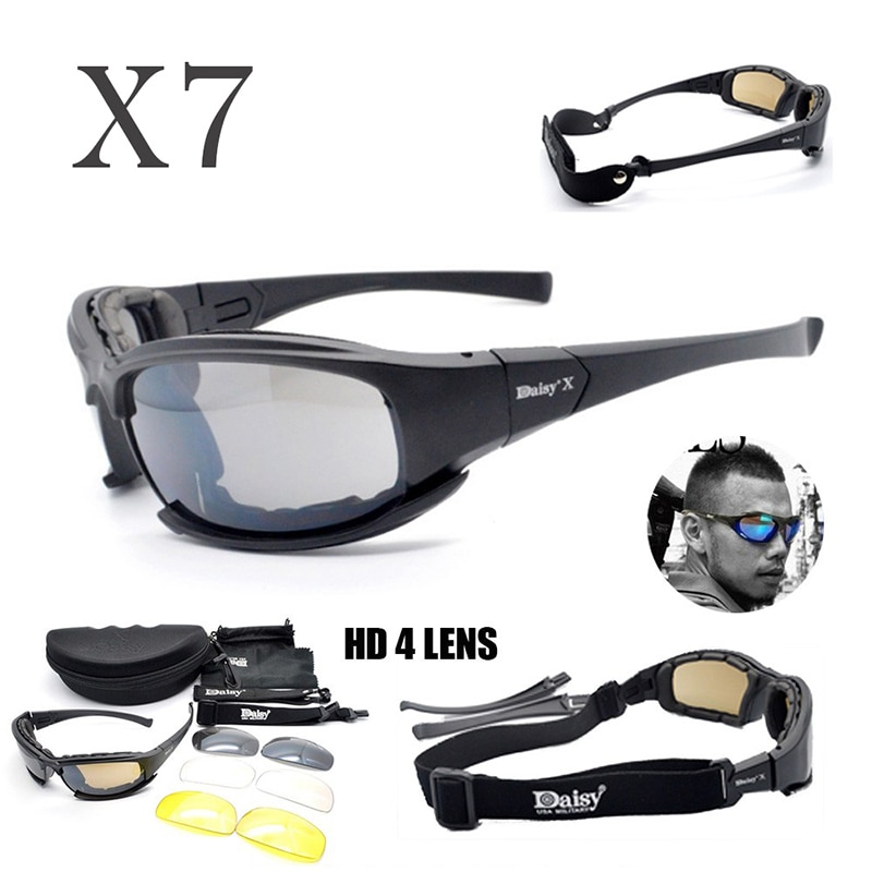Daisy X7 C5 Polarized Sunglasses Tactical Military Glasses Men Hunting Shooting Airsoft Goggles 4 Le