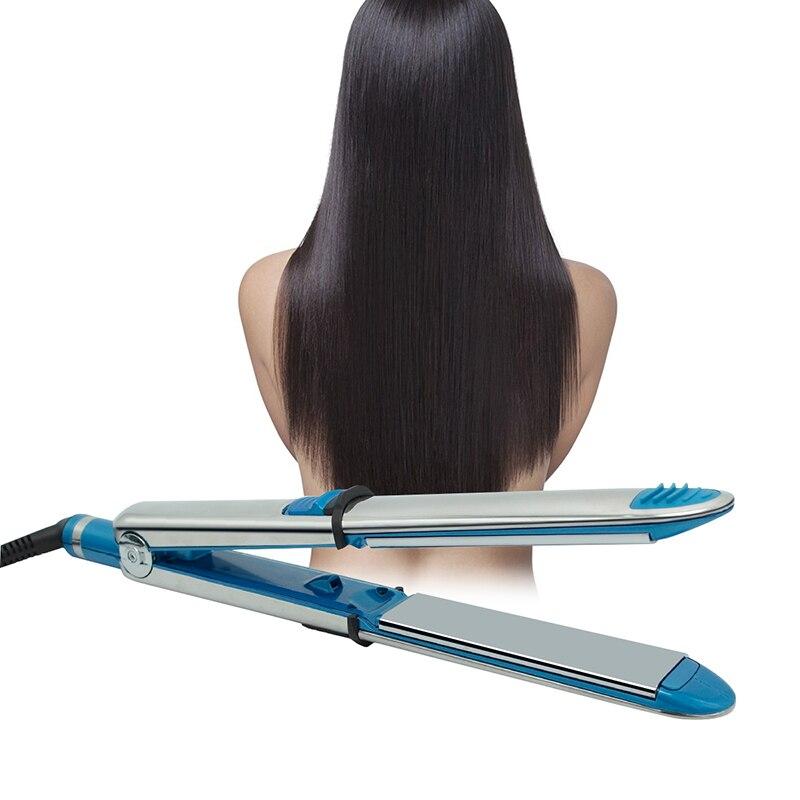 alisamento de cabelo novo ferro titanio alisador aco inoxidavel plana placa ferro