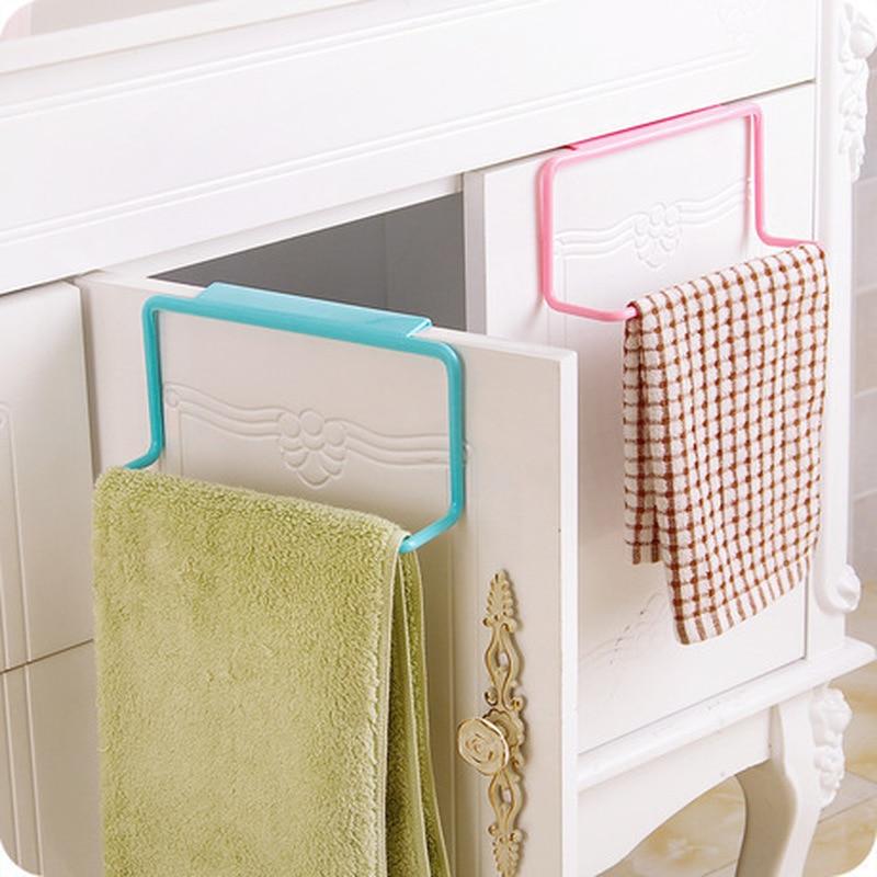 Kitchen Organizer Fruit Gadgets Towel Rack Hanging Holder Cabinet Cupboard Holder Towel Storage Holders Kitchen Accessories
