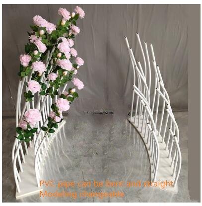 Nouveau style daccessoires de mariage   Décoration de fond de scène sur route, catwalk courbe 100, clôture circulaire en PVC avec ligne de s